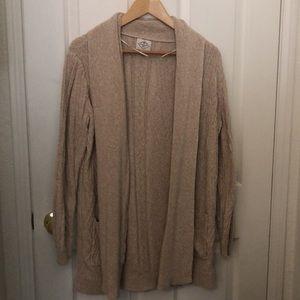 100% Cotton Nude Cardigan Sweater